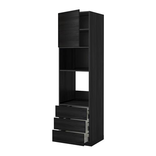 METOD - 微波爐/焗爐用高櫃連抽屜櫃門組合, 黑色 Maximera/Tingsryd 黑色   IKEA 香港及澳門 - PE343356_S4