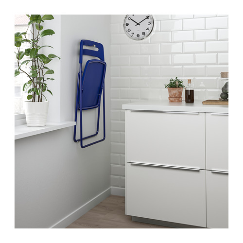 NISSE/MELLTORP - table and 2 folding chairs, white/dark blue-lilac | IKEA Hong Kong and Macau - PE682621_S4