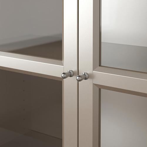 BILLY - bookcase with glass-doors, grey/metallic effect | IKEA Hong Kong and Macau - PE770196_S4