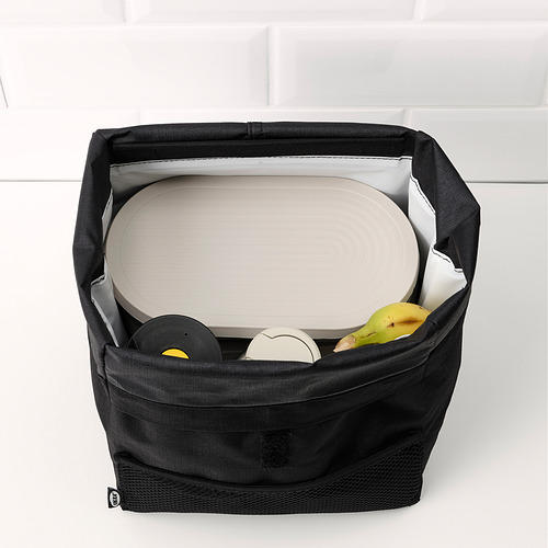 HALVVARM - 食物盒連蓋及間隔, 不銹鋼/米黃色   IKEA 香港及澳門 - PE825892_S4