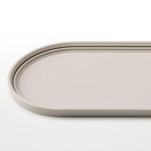 HALVVARM - 食物盒連蓋及間隔, 不銹鋼/米黃色   IKEA 香港及澳門 - PE825893_S4