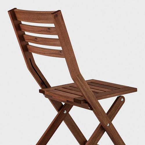 ÄPPLARÖ - table+2 folding chairs, outdoor, brown stained/Kuddarna grey | IKEA Hong Kong and Macau - PE713009_S4