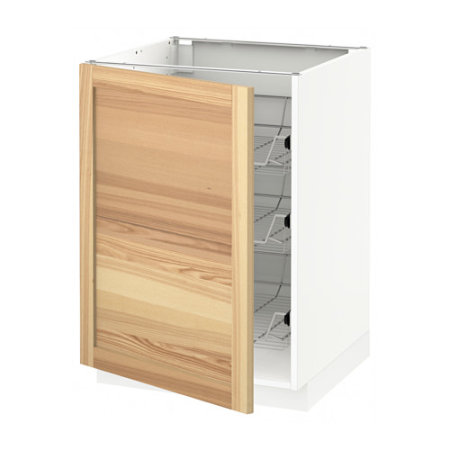 METOD - base cabinet with wire baskets, white/Torhamn ash | IKEA Hong Kong and Macau - PE567669_S4