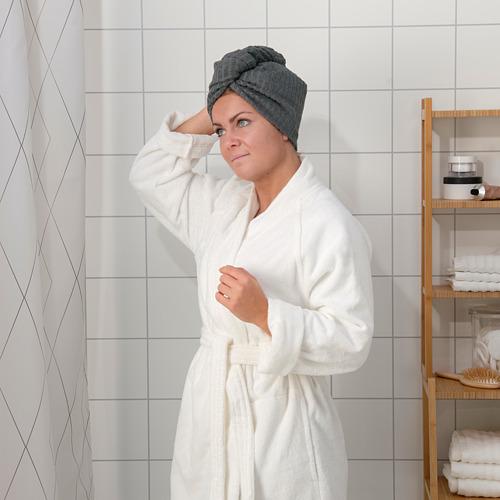 TRÄTTEN - 乾髮巾, 深灰色/白色 | IKEA 香港及澳門 - PE770230_S4