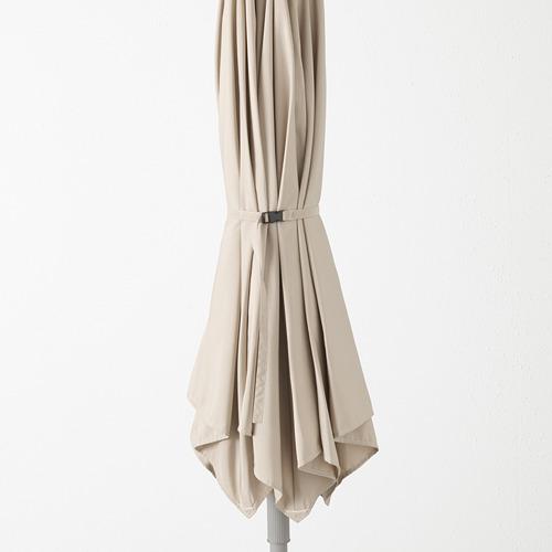 LINDÖJA/KUGGÖ - parasol with base, beige/Huvön dark grey | IKEA Hong Kong and Macau - PE673387_S4