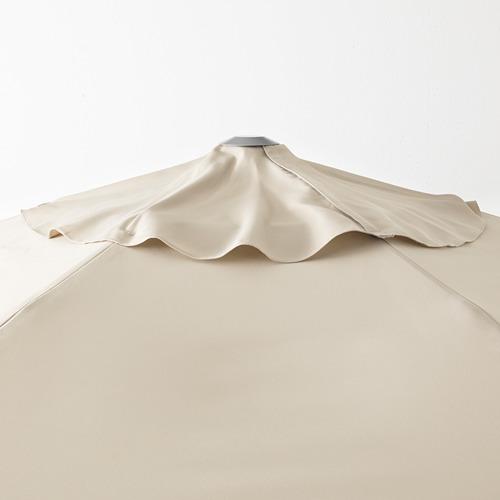 LINDÖJA/KUGGÖ - parasol with base, beige/Huvön dark grey | IKEA Hong Kong and Macau - PE673393_S4
