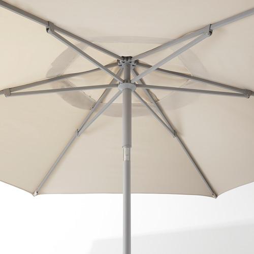 LINDÖJA/KUGGÖ - parasol with base, beige/Huvön dark grey | IKEA Hong Kong and Macau - PE673394_S4