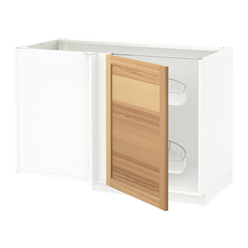 METOD - corner base cab w pull-out fitting, white/Torhamn ash | IKEA Hong Kong and Macau - PE567772_S4