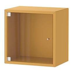 EKET - wall cabinet with glass door, golden-brown | IKEA Hong Kong and Macau - PE770341_S3