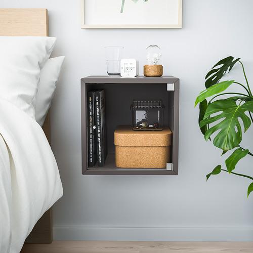 EKET - wall cabinet with glass door, dark grey | IKEA Hong Kong and Macau - PE770358_S4