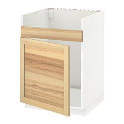 METOD - HAVSEN單星盆底櫃, 白色/Torhamn 梣木 | IKEA 香港及澳門 - PE567851_S3