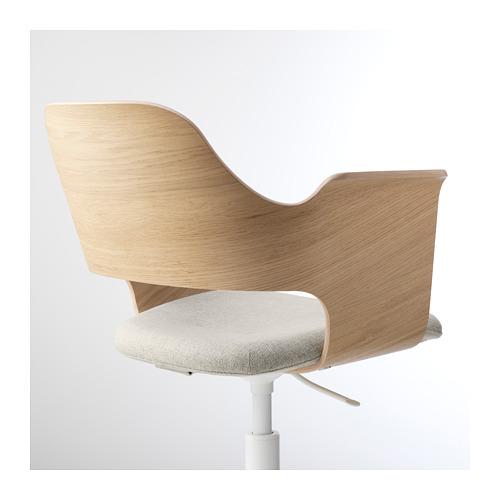 FJÄLLBERGET - conference chair, white stained oak veneer/Gunnared beige | IKEA Hong Kong and Macau - PE689991_S4