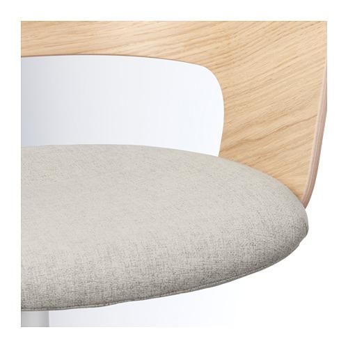 FJÄLLBERGET - conference chair, white stained oak veneer/Gunnared beige | IKEA Hong Kong and Macau - PE689988_S4