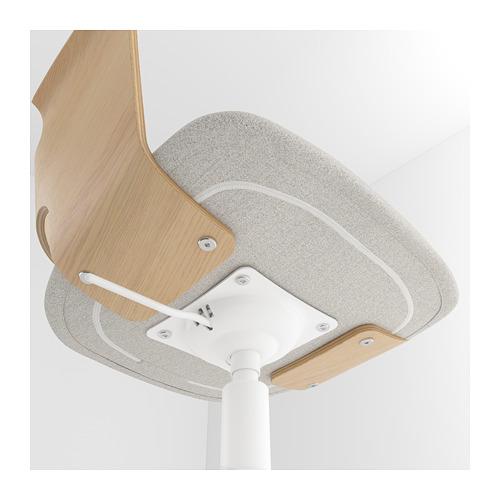FJÄLLBERGET - conference chair, white stained oak veneer/Gunnared beige | IKEA Hong Kong and Macau - PE689989_S4