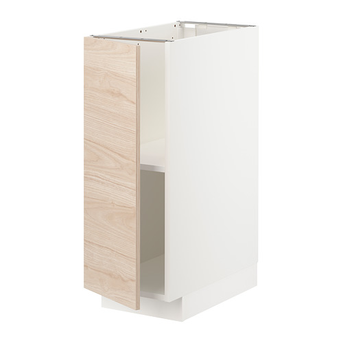METOD - base cabinet with shelves, white/Askersund light ash effect | IKEA Hong Kong and Macau - PE726205_S4