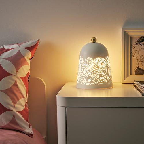 SOLSKUR - LED座檯燈, 白色/黃銅色   IKEA 香港及澳門 - PE770386_S4