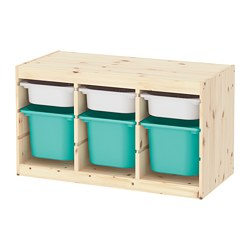 TROFAST - storage combination with boxes, light white stained pine white/turquoise | IKEA Hong Kong and Macau - PE770399_S3