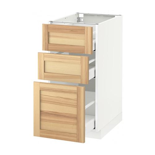 METOD - base cabinet with 3 drawers, white Maximera/Torhamn ash | IKEA Hong Kong and Macau - PE567983_S4