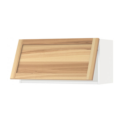 METOD - wall cabinet horizontal w push-open, white/Torhamn ash | IKEA 香港及澳門 - PE567985_S4