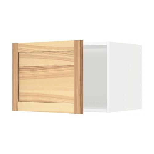 METOD - top cabinet for fridge/freezer, white/Torhamn ash   IKEA Hong Kong and Macau - PE567991_S4