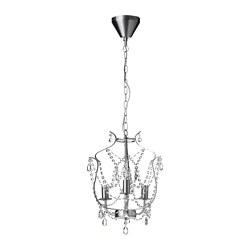 KRISTALLER - 三臂吊燈, 銀色/玻璃 | IKEA 香港及澳門 - PE682971_S3