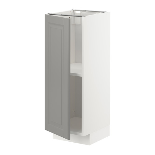 METOD - base cabinet with shelves, white/Bodbyn grey | IKEA Hong Kong and Macau - PE726239_S4