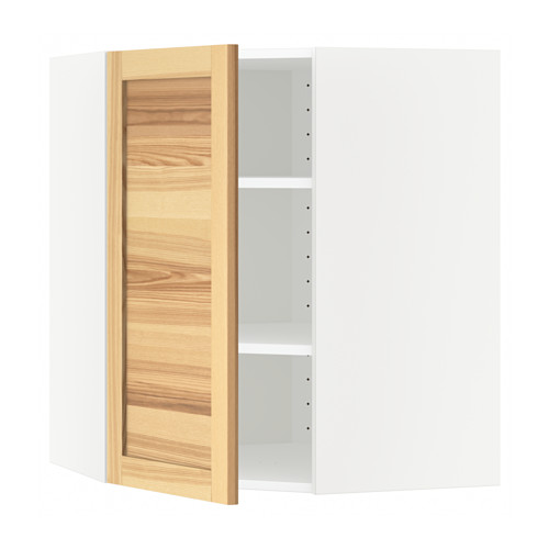 METOD - corner wall cabinet with shelves, white/Torhamn ash | IKEA Hong Kong and Macau - PE568026_S4