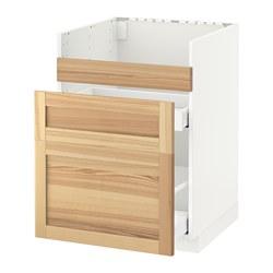 METOD/MAXIMERA - HAVSEN星盆用地櫃連3面板/2抽屜, white/Torhamn ash | IKEA 香港及澳門 - PE568069_S3