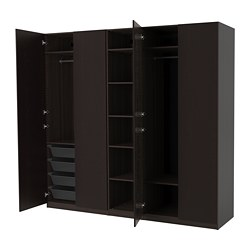 PAX - 衣櫃, 棕黑色/Forsand 染棕黑色梣木紋 | IKEA 香港及澳門 - PE683033_S3