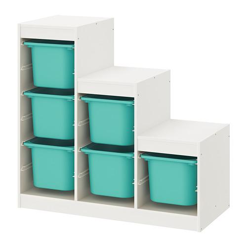 TROFAST - storage combination, white/turquoise   IKEA Hong Kong and Macau - PE770449_S4
