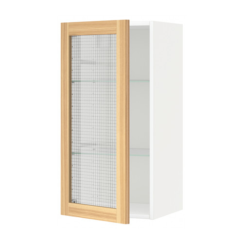 METOD - wall cabinet w shelves/glass door, white/Torhamn ash | IKEA Hong Kong and Macau - PE568285_S4