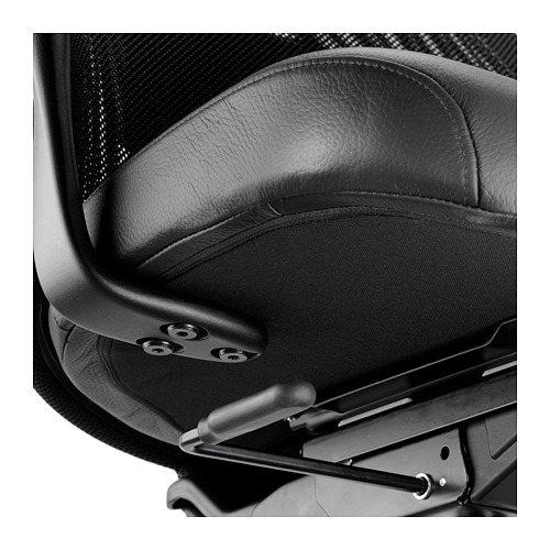 JÄRVFJÄLLET - office chair with armrests, Glose black   IKEA Hong Kong and Macau - PE683149_S4