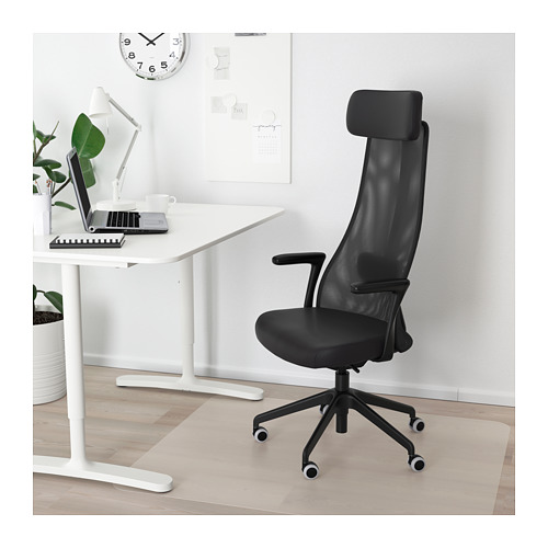 JÄRVFJÄLLET - office chair with armrests, Glose black   IKEA Hong Kong and Macau - PE683150_S4