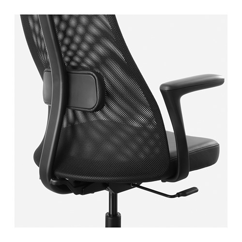 JÄRVFJÄLLET - office chair with armrests, Glose black   IKEA Hong Kong and Macau - PE683151_S4