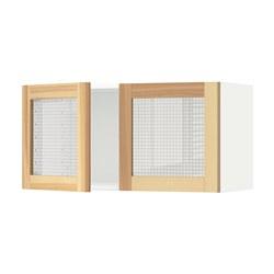 METOD - 雙玻璃門吊櫃, 白色/Torhamn 梣木 | IKEA 香港及澳門 - PE568305_S3