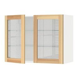 METOD - 吊櫃連層板/1對玻璃門, white/Torhamn ash | IKEA 香港及澳門 - PE568349_S3