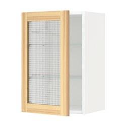 METOD - 吊櫃連層板/玻璃門, white/Torhamn ash | IKEA 香港及澳門 - PE568369_S3