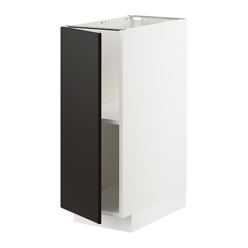 METOD - base cabinet with shelves, white/Kungsbacka anthracite | IKEA Hong Kong and Macau - PE726387_S4