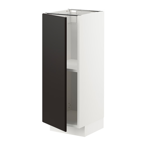 METOD - base cabinet with shelves, white/Kungsbacka anthracite | IKEA Hong Kong and Macau - PE726388_S4