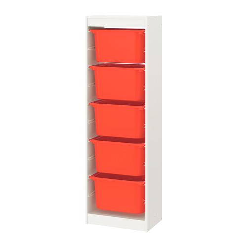 TROFAST - storage combination with boxes, white/orange | IKEA Hong Kong and Macau - PE770541_S4