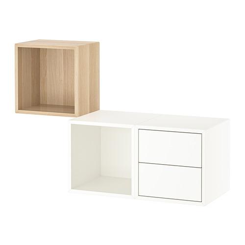 EKET - 上牆式貯物組合, 染白橡木紋/白色 | IKEA 香港及澳門 - PE770569_S4