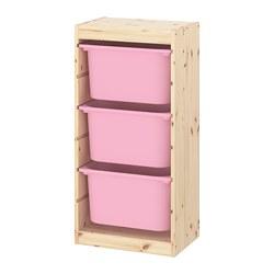 TROFAST - 貯物組合連物盒, light white stained pine/pink | IKEA 香港及澳門 - PE770581_S3