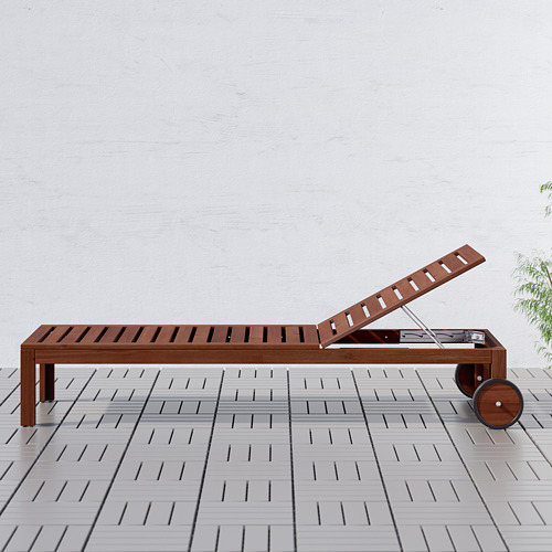 ÄPPLARÖ - sun lounger, brown stained   IKEA Hong Kong and Macau - PE616843_S4