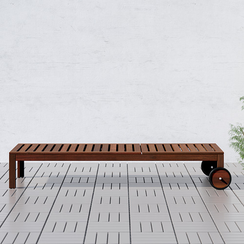 ÄPPLARÖ - sun lounger, brown stained   IKEA Hong Kong and Macau - PE617407_S4
