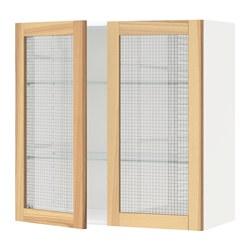 METOD - 吊櫃連層板/1對玻璃門, white/Torhamn ash | IKEA 香港及澳門 - PE568388_S3