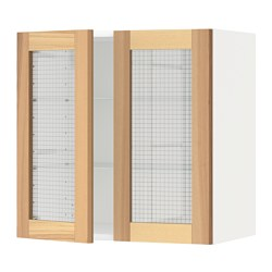 METOD - 吊櫃連層板/1對玻璃門, white/Torhamn ash | IKEA 香港及澳門 - PE568427_S3