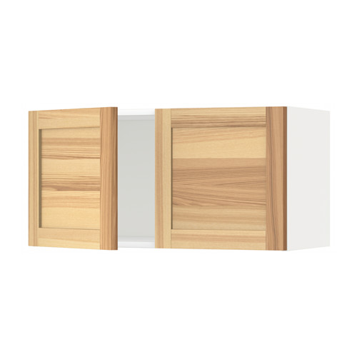 METOD - wall cabinet with 2 doors, white/Torhamn ash | IKEA Hong Kong and Macau - PE568446_S4