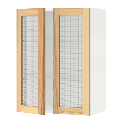 METOD - 吊櫃連層板/1對玻璃門, white/Torhamn ash | IKEA 香港及澳門 - PE568467_S4