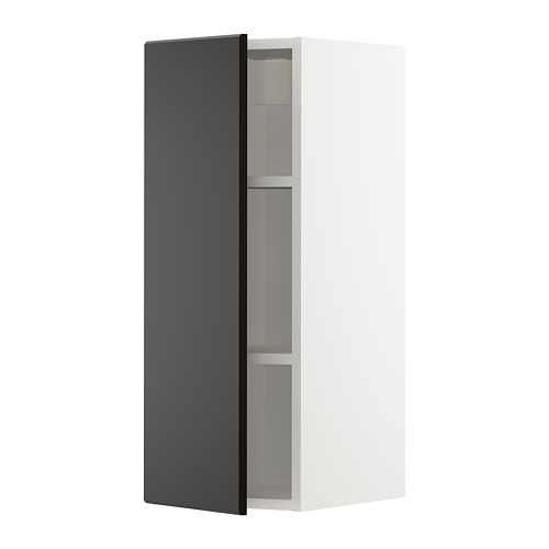 METOD - wall cabinet with shelves, white/Kungsbacka anthracite | IKEA Hong Kong and Macau - PE726394_S4