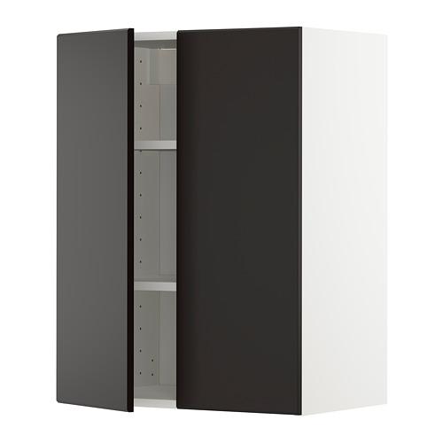 METOD - 吊櫃連層板/雙門, white/Kungsbacka anthracite | IKEA 香港及澳門 - PE726405_S4